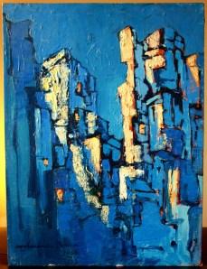 Cubist Cityscape - 1966 - Mohanna Durra مهنا الدرة (Muhanna al Durra)